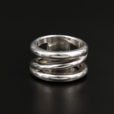 Tiffany & Co. Sterling Silver Diagonal Band