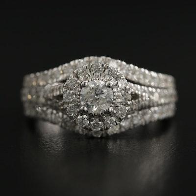 10K White Gold 1.50 CTW Diamond Ring