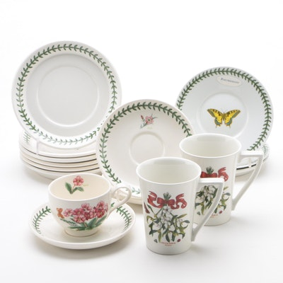 "Portmeirion ""Botanic Garden and Butterfly"" Dinnerware, Contemporary"