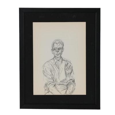 "Alberto Giacometti Lithograph for ""Derrière le Miroir"", 1960"