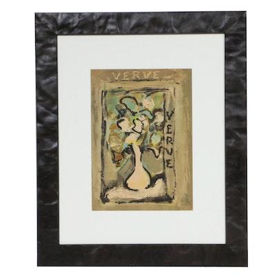 "Georges Rouault Color Lithograph for ""Verve,"" 1939"