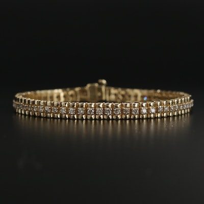 14K Yellow Gold 1.86 CTW Diamond Line Bracelet