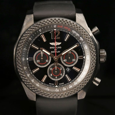 Breitling For Bentley Barnato 42 Midnight Carbon Chronograph Wristwatch