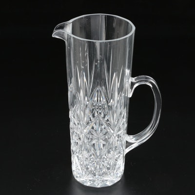 Molded Crystal Martini Pitcher, Vintage
