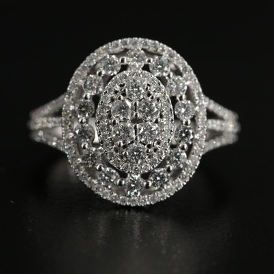 10K White Gold 1.25 CTW Diamond Ring
