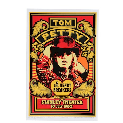 """David Edward Byrd Giclée """"Tom Petty at Stanley Theater, Pittsburgh 1980"""""""