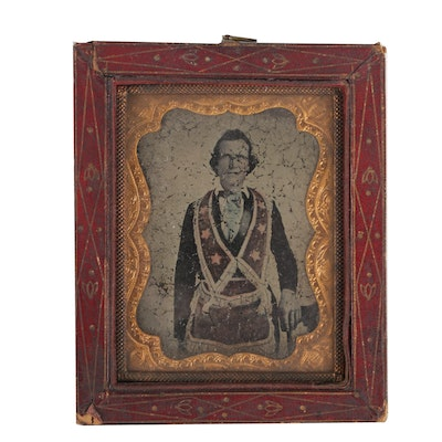 Tintype Photograph of Man in Ritual Clothing for the I.O.O.F.