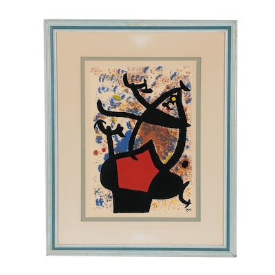 Abstract Serigraph after Joan Miró