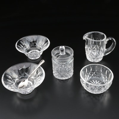 "Waterford Crystal ""Lismore"" Creamer, Sugar, and Condiment Bowls and More"
