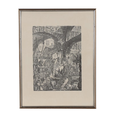 """Lithographic Reproduction after Giovanni Battista Piranesi """"The Man on the Rack"""""""