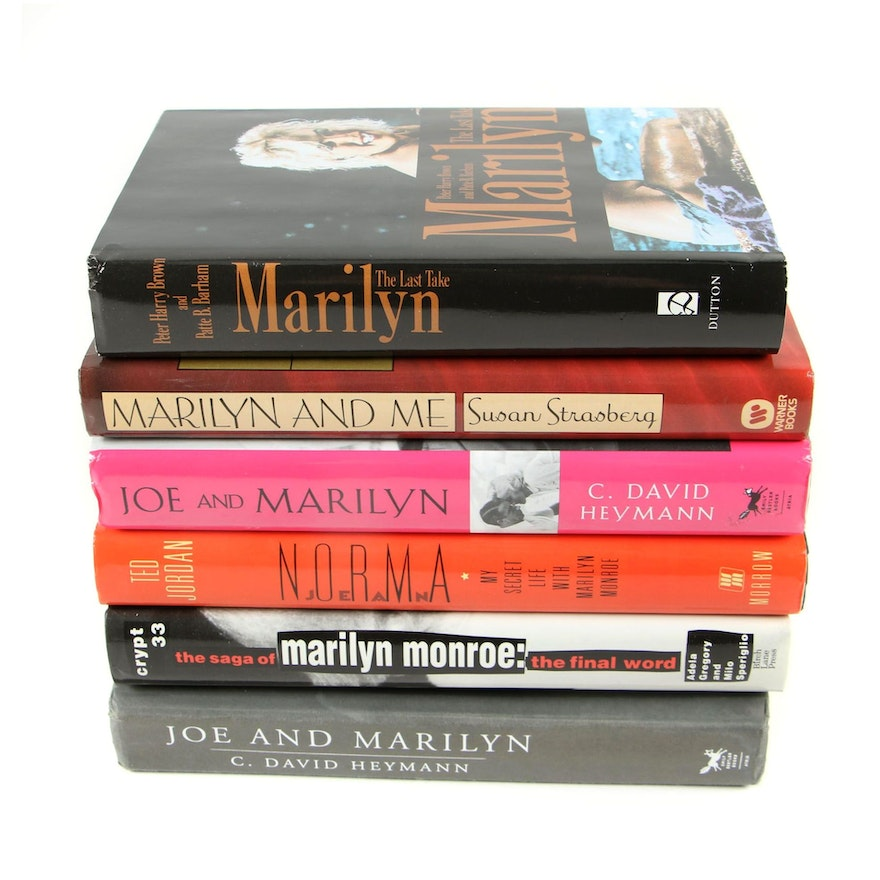 "Biographies of Marilyn Monroe featuring First Printing ""Marilyn: The Last Take"""