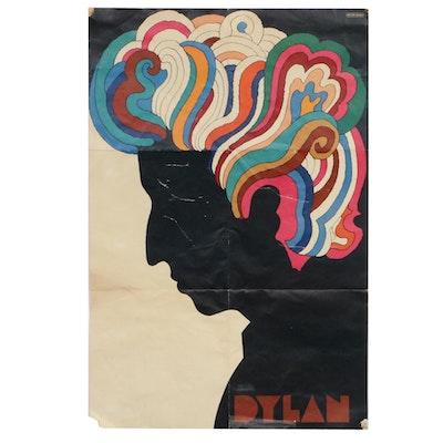 Bob Dylan Poster Designed by Milton Glaser, 1966