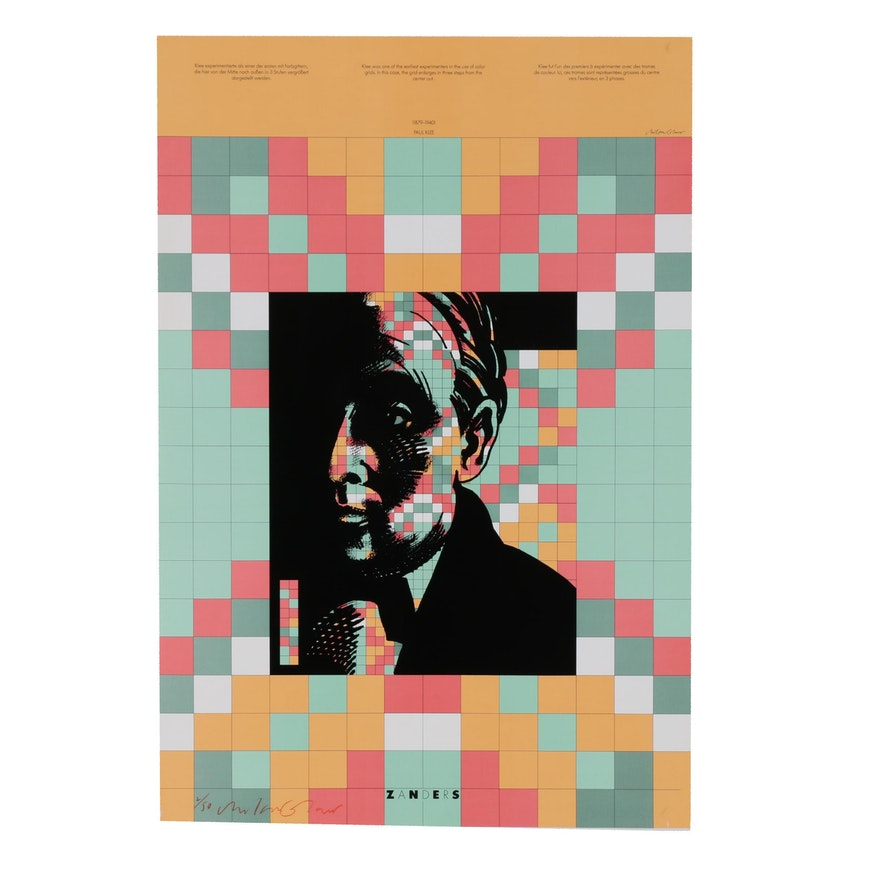 "Milton Glaser Offset Lithograph ""Paul Klee"""