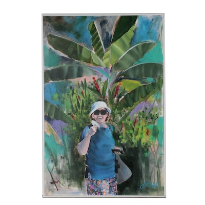 "J.C. Hall Acrylic Painting ""Joan in Jamaica"""