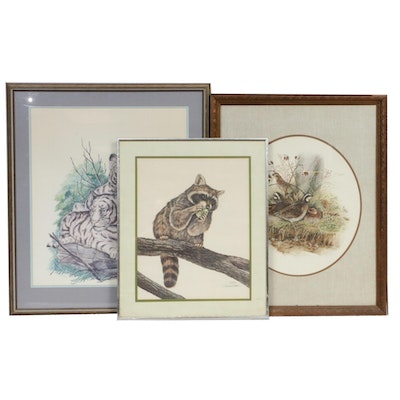 Offset Lithograph Wildlife Prints Including W.D. Gaither and Don Whitlatch