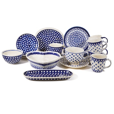 Boleslawiec Polish Pottery Heart-Shaped Baker, Dot Mugs, Plates and More