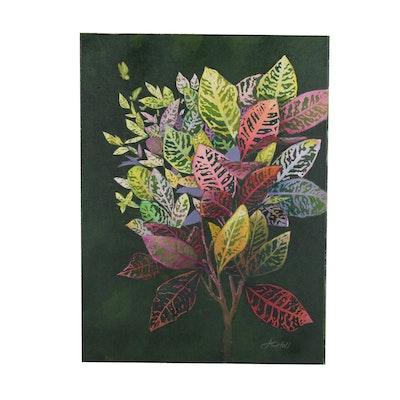 "J.C. Hall Acrylic Painting ""Croton"""