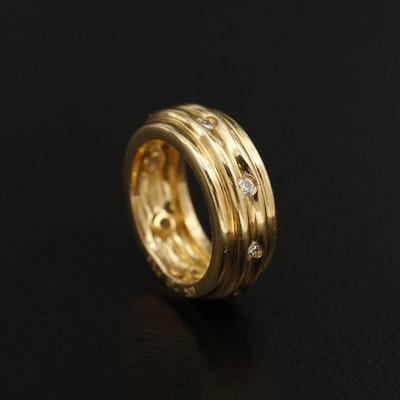 18K Yellow Gold Diamond Slide Pendant