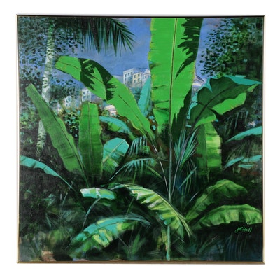 "J.C. Hall Acrylic Painting ""Tropical Light"""