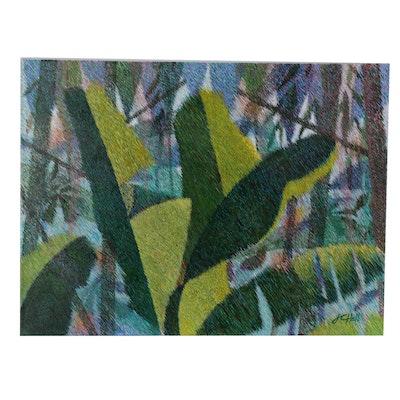"""J.C. Hall Lineillist Acrylic Paining """"Why Wasn't I Introduced"""""""