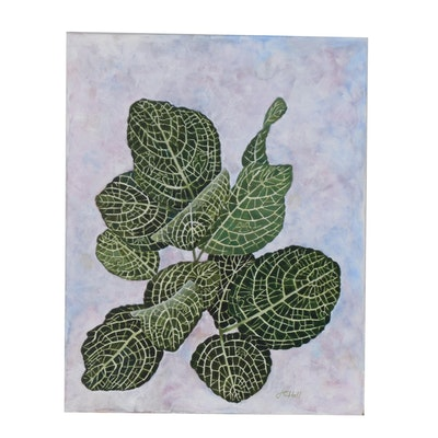 "J.C. Hall Acrylic Painting ""Plant Life"""