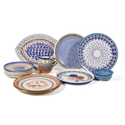 Boleslawiec Polish Pottery Plates and Other Serveware