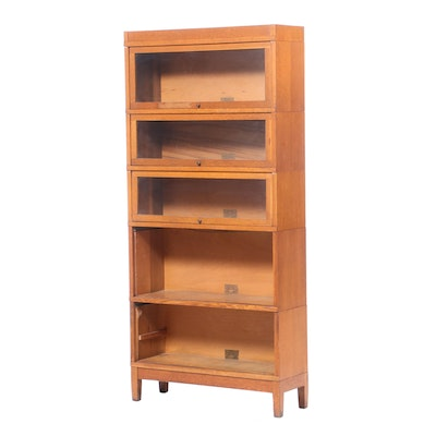 Globe-Wernicke Oak Five-Stack Barrister's Bookcase, Early 20th Century