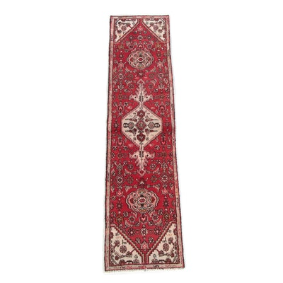 2'1 x 8'4 Hand-Knotted Persian Hamadan Wool Carpet Runner