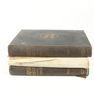 """Late 19th Century Bound Issues of """"Hearth and Home"""" and """"Harper's Weekly"""""""