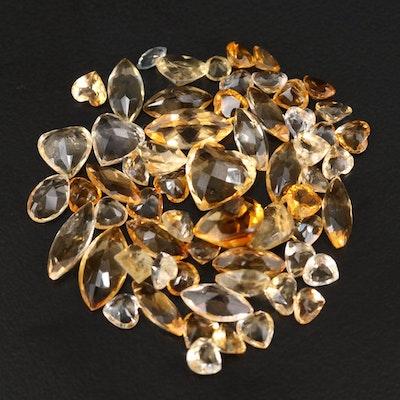 Loose 22.73 CTW Citrine Gemstones
