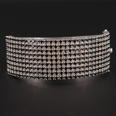 Sterling Silver Spinel Cuff Bracelet