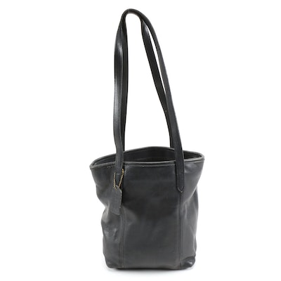 Coach Black Leather Legacy Lunch Tote