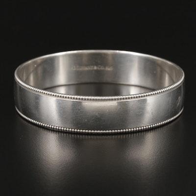 Tiffany & Co. Sterling Silver Milgrain Bangle Bracelet