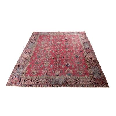 9'8 x 13'5 Hand-Knotted Turkish Oushak Rug, circa 1920