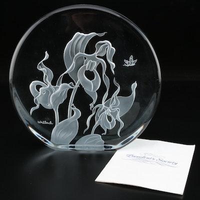 "Arlene Wallach ""Turk's-cap Lily"" Presentational Crystal Sculpture, 1990"