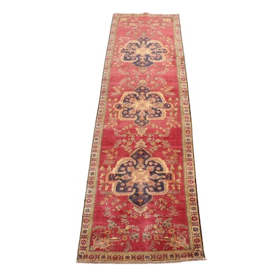 3'3 x 12'10 Hand-Knotted Persian Tabriz Carpet Runner, 1970s