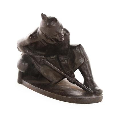 Prussian Soldier Sculpture after Otto Thiem