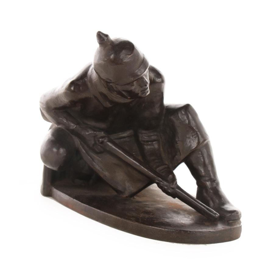 Prussian Soldier Sculpture by Otto Thiem
