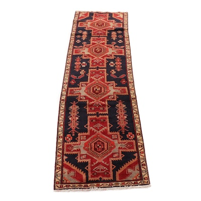 2'11 x 9'8 Hand-Knotted Northwest Persian Carpet Runner, 1970s