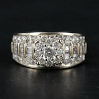 10K White Gold 1.98 CTW Diamond Ring