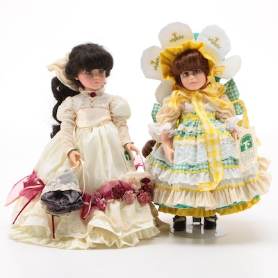 """Pittsburgh Originals Vinyl Dolls, Including Limited Edition """"Collee"""" Doll, 1990s"""