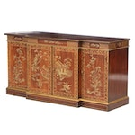 Drexel-Heritage Lacquered Breakfront Sideboard, Late 20th Century
