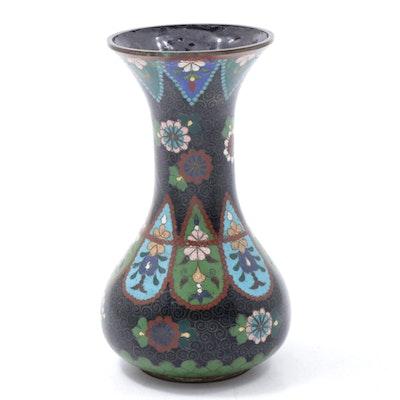 Japanese Cloisonné Enameled Bud Vase, Meiji Period