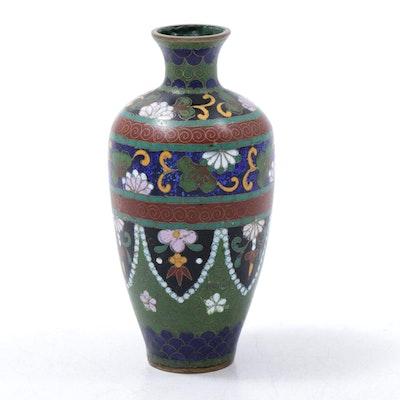 Japanese Cloisonné Enameled Vase, Meiji Period