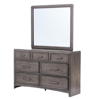 Contemporary Dresser with Mirror for Home Elegance