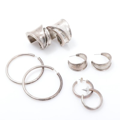 Sterling Silver Hoop Earring Collection