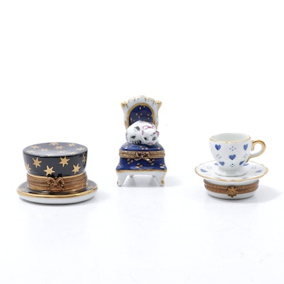 PV Hand-Painted Porcelain Limoges Boxes
