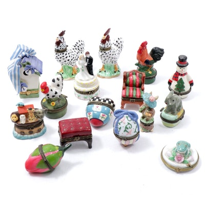 Porcelain Trinket Box Collection Featuring Mud Pie, FW & Co, and More