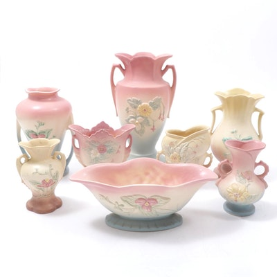 "Hull Pottery ""Magnolia"" Vases, Mid-20th Century"