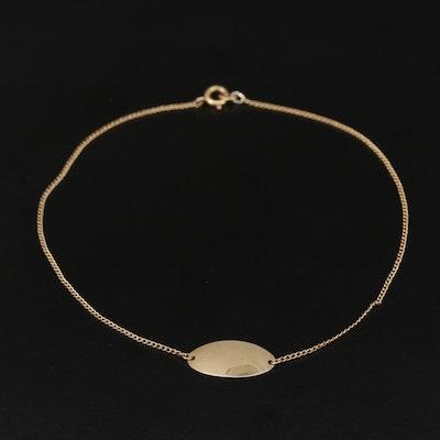10K Yellow Gold Curb Chain Bracelet